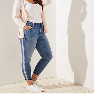 🆕 LOFT Velvet Stripe Modern Skinny Jeans